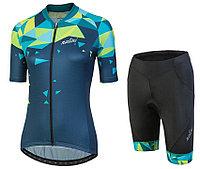 Женская короткая велоформа Nalini CHIC Women s Blue Cycling Jersey And Shorts Set