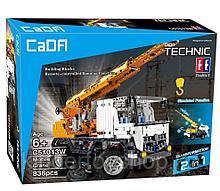 Конструктор CaDa C51013W Кран на  радиоуправлении, 838 дет. аналог Лего Техник LEGO Technic