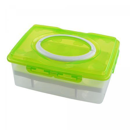 Контейнер для хранения яиц 24 шт., цвет салатовый, фото 2