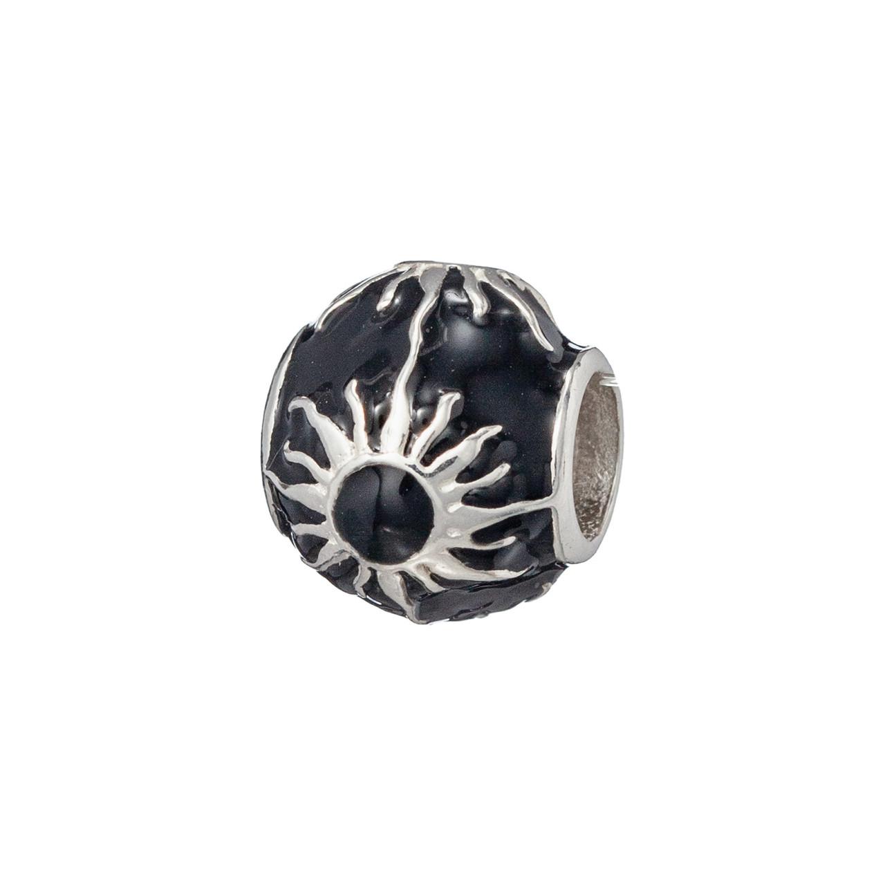 Шарм Brosh Jewellery (Серебро 925) Эмаль черная