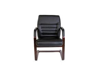 Кресло для посетителей кожанное/ дерево