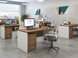 Белая офисная мебель