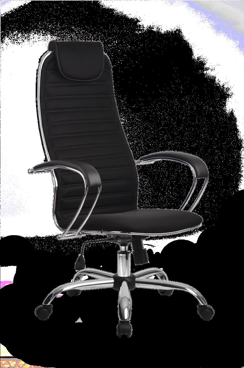 Кресло ортопедическое офисное хром  бизнес