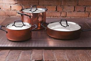 Кастрюли и сковороды с покрытием из меди Trix Cobre