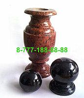 Гранитные вазы, шары