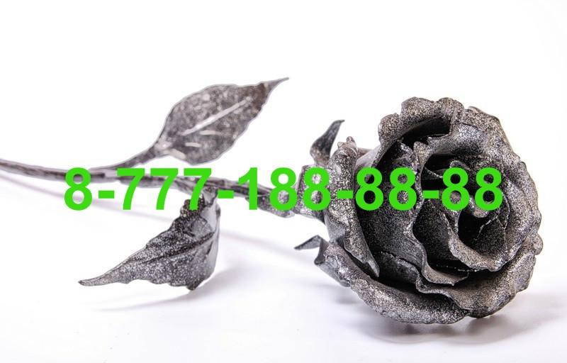 Кованые цветы на могилу