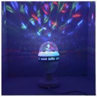 FunRay Диско-лампа светодиодная B52, 15,5см, подставка с цоколем Е27 в комплекте, 3 цвета, 85-250В.