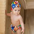 Многоразовые трусики подгузники для бассейна с шапочкой, фото 2