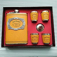"""Фляжка туристическая из нержавеющей стали """"Jack Daniels"""", коричневый., фото 1"""