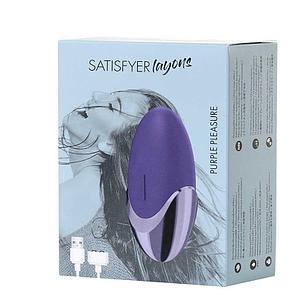 """Клиторальный вибратор """"Satisfyer layons Purple Pleasure"""", 9.0х4.4 см, силикон, 15 режимов вибрации"""