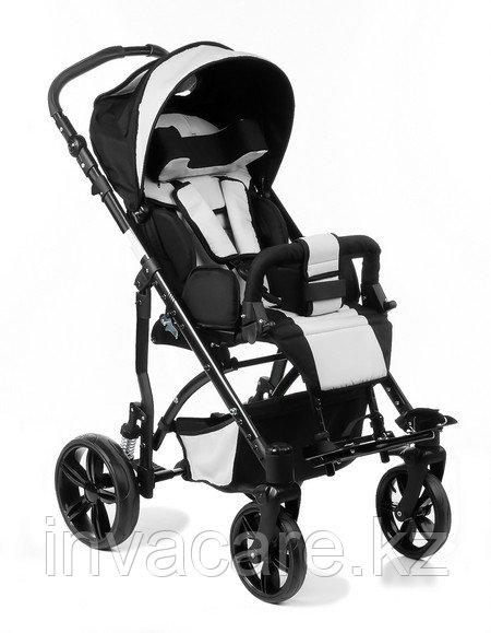 Коляска для детей с ДЦП JUNIOR пневмо колёса, складная, 20 кг, нагрузка до 30 кг