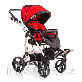 Коляска для детей с ДЦП JUNIOR PLUS пневмо колёса, складная,  20 кг, нагрузка до 40 кг, версия О