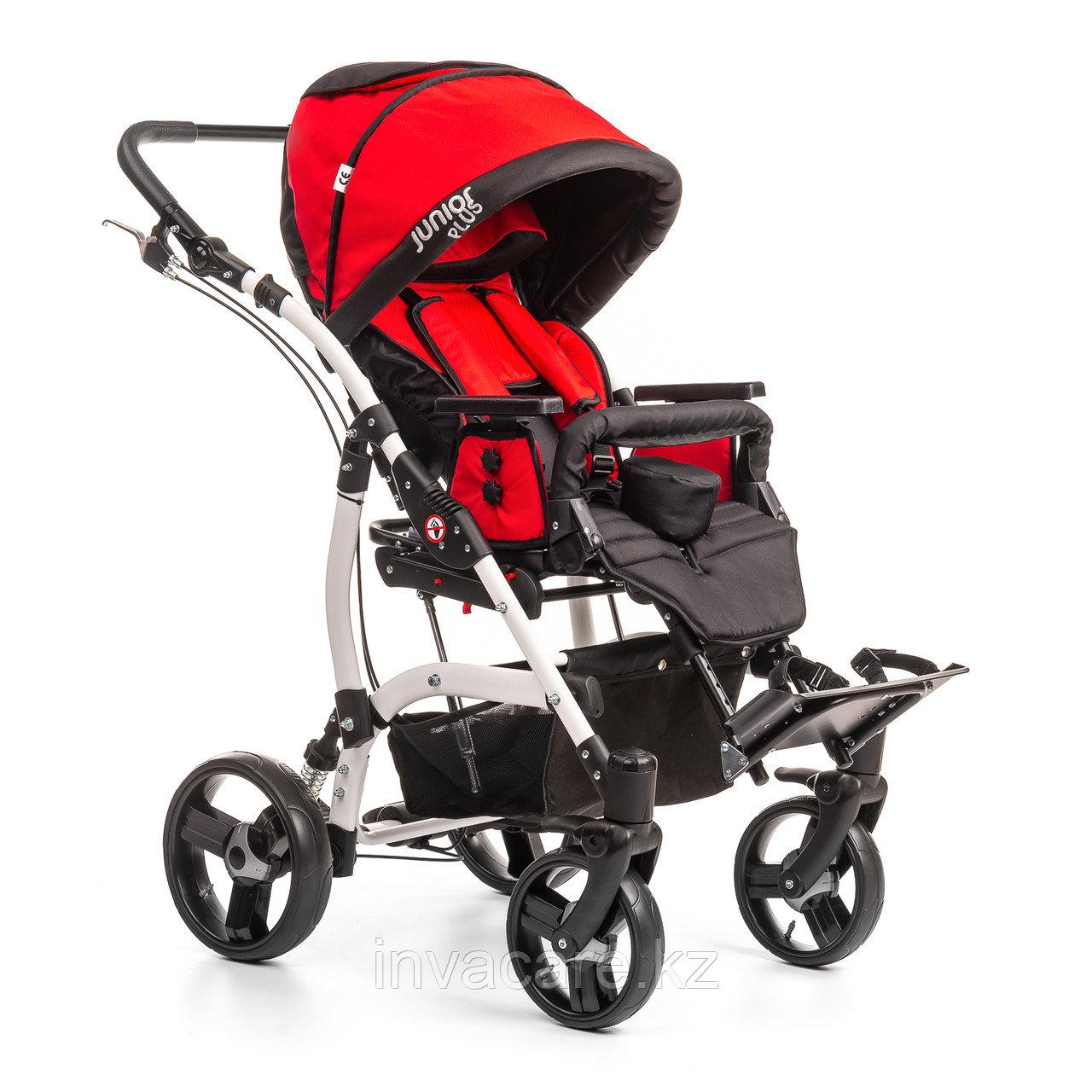 Коляска для детей с ДЦП JUNIOR PLUS литые колёса, складная,  20 кг, нагрузка до 40 кг, версия О