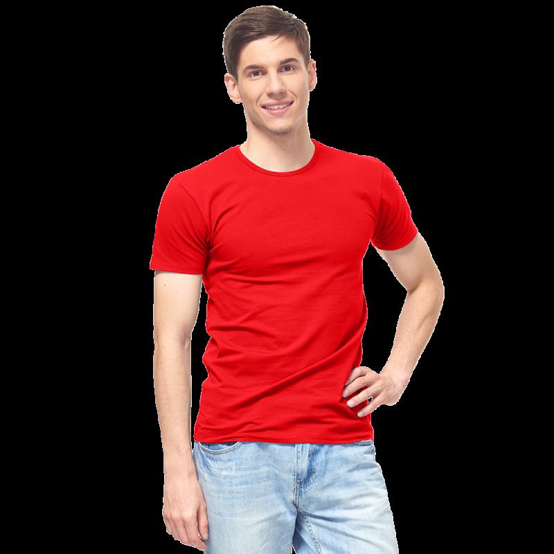 Мужская футболка-стрейч, StanSlim, 37, Красный (14/1), M/48