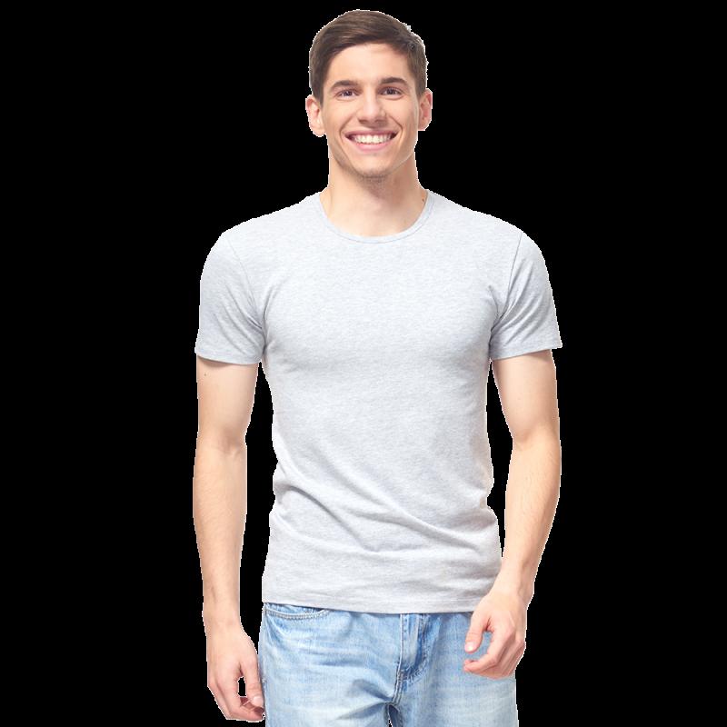 Мужская футболка-стрейч, StanSlim, 37, Серый меланж (50/1), XL/52