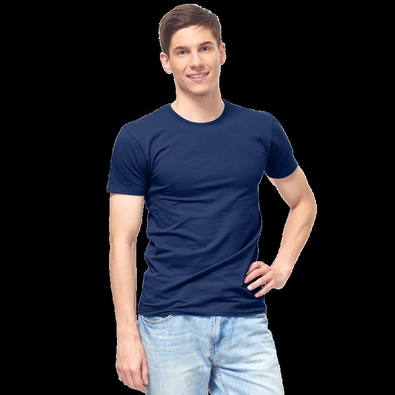 Мужская футболка-стрейч, StanSlim, 37, Тёмно-синий (46/1), L/50