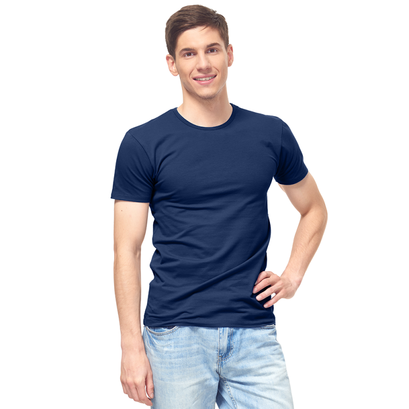 Мужская футболка-стрейч, StanSlim, 37, Тёмно-синий (46/1), XXL/54