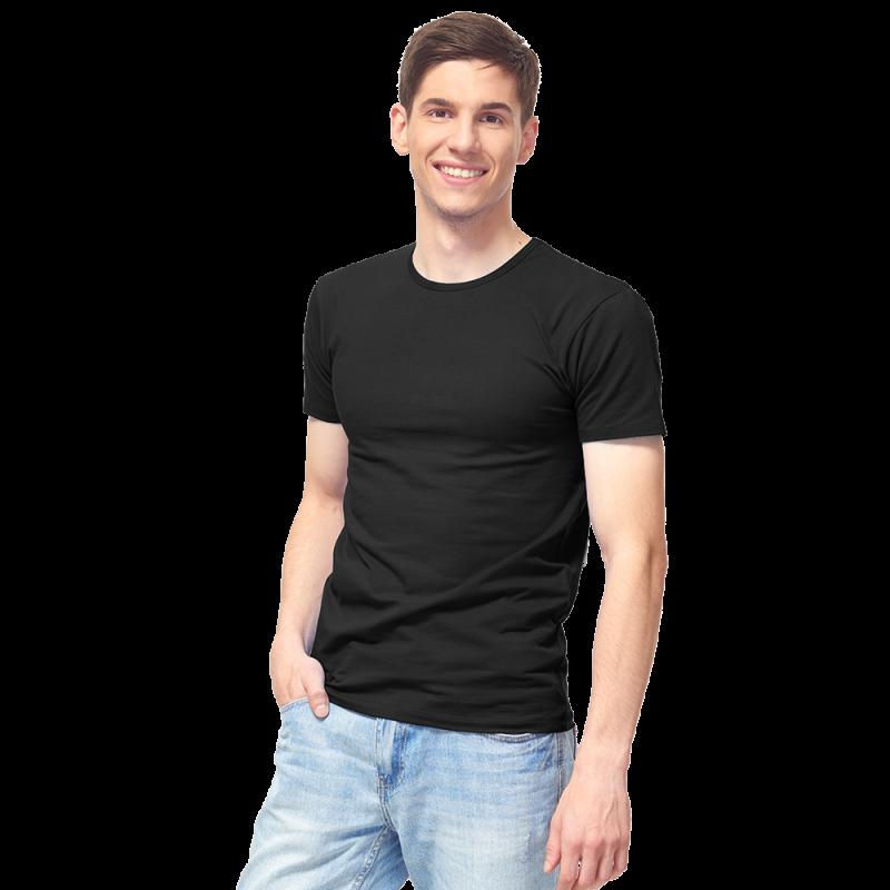 Мужская футболка-стрейч, StanSlim, 37, Чёрный (20/1), S/46