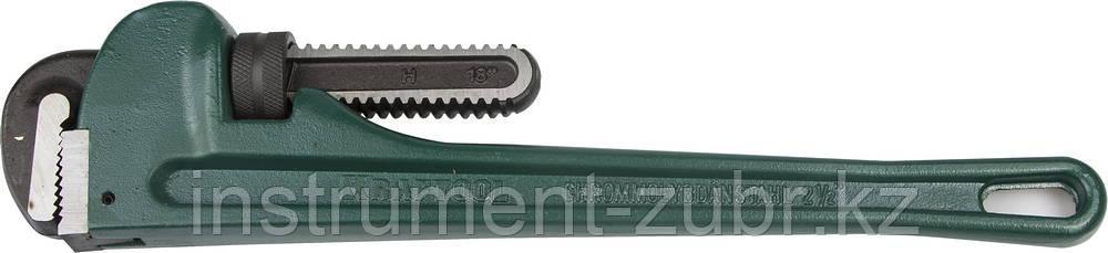 """Ключ KRAFTOOL трубный, разводной, тип """"RIGIT"""", Cr-Mo губки, Al корпус, цельнокованный, 21/2""""/450мм"""