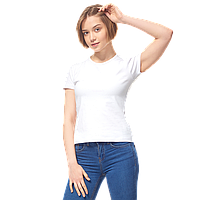 Женская футболка-стрейч, StanSlimWomen, 37W, Белый (10/1), XXL/52
