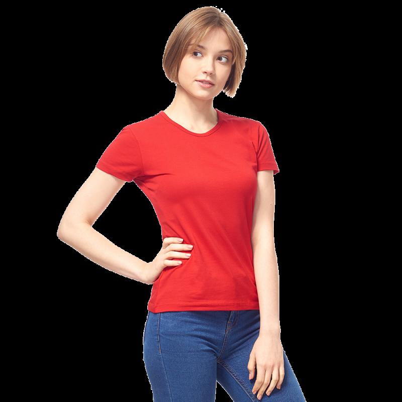 Женская футболка-стрейч, StanSlimWomen, 37W, Красный (14/1), M/46