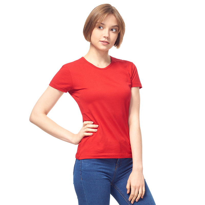 Женская футболка-стрейч, StanSlimWomen, 37W, Красный (14/1), XS/42
