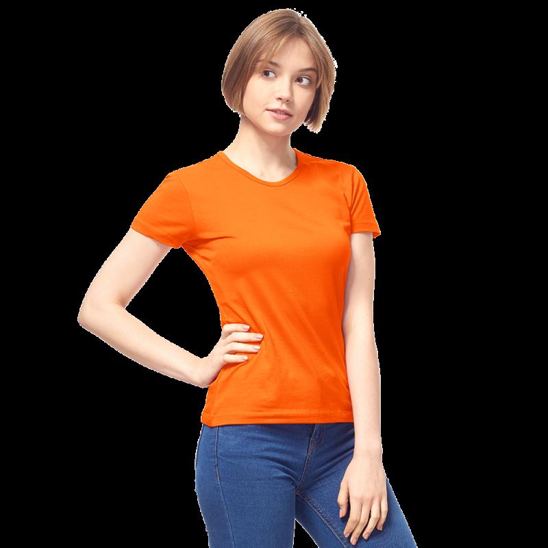 Женская футболка-стрейч, StanSlimWomen, 37W, Оранжевый (28/1), XS/42