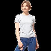 Женская футболка-стрейч, StanSlimWomen, 37W, Серый меланж (50/1), M/46, фото 1