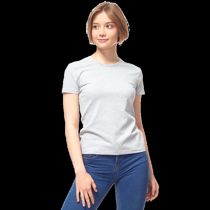 Женская футболка-стрейч, StanSlimWomen, 37W, Серый меланж (50/1), XL/50
