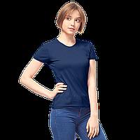 Женская футболка-стрейч, StanSlimWomen, 37W, Тёмно-синий (46/1), L/48