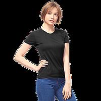 Женская футболка-стрейч, StanSlimWomen, 37W, Чёрный (20/1), S/44