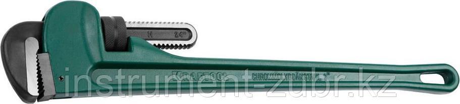 """Ключ KRAFTOOL трубный, разводной, тип """"RIGIT"""", Cr-Mo губки, Al корпус, цельнокованный, 3""""/600мм, фото 2"""