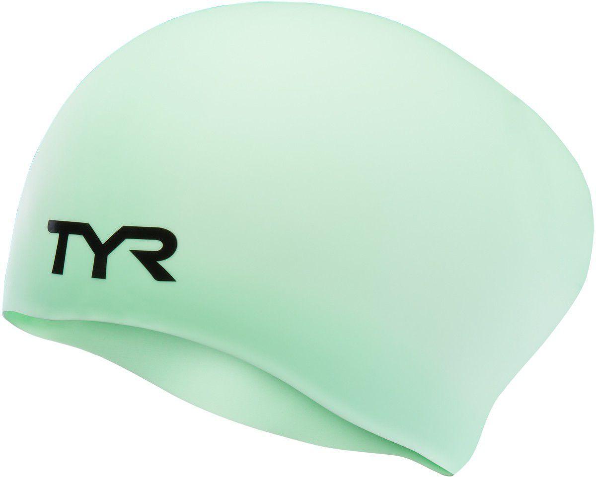 Шапочка для плавания (для длинных волос) TYR Long Hair Wrinkle Free Silicone Cap 332