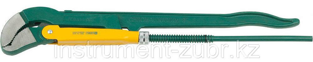 Ключ трубный KRAFTOOL PANZER-S, №4, изогнутые губки