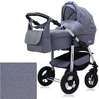 Детская коляска 2 в 1 Bart-Plast Fenix Prime Светло-Синий Джинс