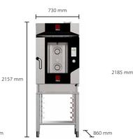 Пароконвектомат на 5 противней 1/1 GN с сенсорным дисплеем MKTS 11 + MKSST 511 +  MKF 511 TS + MKKC 5 Техноэка