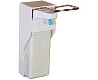 Медицинский локтевой дозатор (диспенсер) для антисептика и жидкого мыла 1000 мл, фото 1