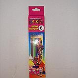 Цветные карандаши Limpopo 6 цветов, фото 3