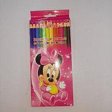 Цветные карандаши Monster High 12 цветов, фото 4