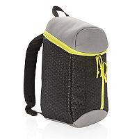 Рюкзак-холодильник Hiking, 10л, черный; салатовый, Длина 22 см., ширина 15 см., высота 38 см., P733.071