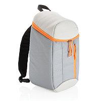 Рюкзак-холодильник Hiking, 10л, серый; оранжевый, Длина 22 см., ширина 15 см., высота 38 см., P733.072