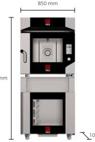 Печь  Конвекционная на 4 уровня MKLM 1064 + MKSST 464+ MKF 464 TS + MKKC 4