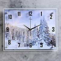 """Часы настенные, серия: Природа, """"Деревья зимой"""", 35х45 см, микс"""