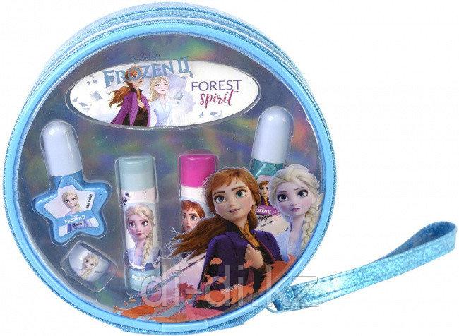 Набор детской декоративной косметики Markwins Frozen, для губ и ногтей, в косметичке, круглый