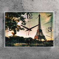 """Часы настенные, серия: Город, """"Эйфелева башня"""", 40х56 см"""