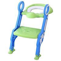 Сиденье для унитаза с лесенкой и ручками Pituso зеленый 16018B
