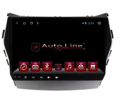 Автомагнитола AutoLine Hyundai Santa Fe 2013-2017г HD ЭКРАН 1024-600 ПРОЦЕССОР 4 ЯДРА (QUAD CORE)