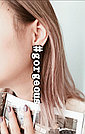 Моносерьга Brosh Jewellery  Хэштег #gorgeous (пластик, черно белый), фото 2