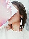 Моносерьга Brosh Jewellery  Хэштег #ласточка  (пластик, черно белый), фото 2