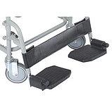 Кресло туалетное VCWK2, складное на колёсах, с подпорками для ног, нагрузка до 100 кг, фото 3